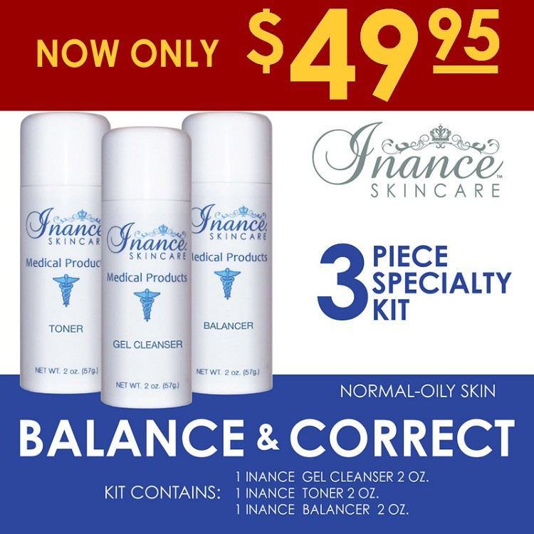 Inance Balance & Correct Specialty Kit (Normal To Oily Skin) Kit #3 (3 pc kit) MSRP 131.00