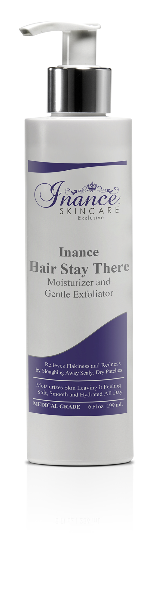 Inance Skincare Exclusive Hair Stay There Moisturizer and Gentle Exfoliator 6 oz