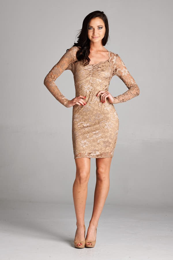Inance Beige Cocktail Dress