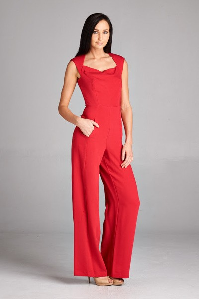 Inance RED Pocket Jumpsuit
