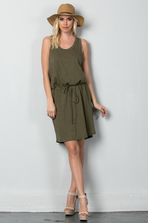 Inance Stylish Safari Dress - 3 Color Choices - Made In The USA