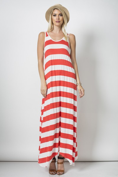 Inance Save Me a Sun Lounger Maxi Dress - Made In The USA- 3 Color Choices