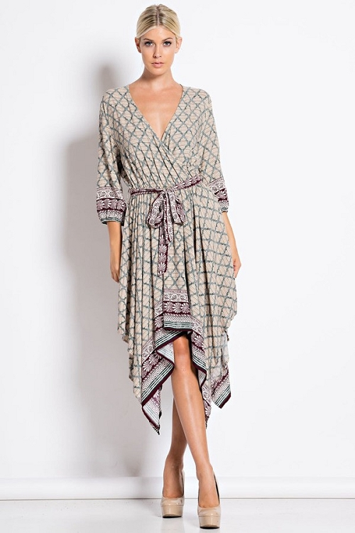 Inance Barefoot on the Beach Wrap Dress - Made In The USA