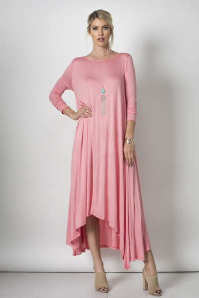 Inance Having A Moment Dress - Bubblegum Pink, Fuschia Or Aqua Blue -Made In The USA