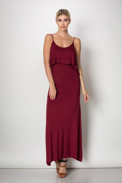 Inance Sultry Senorita Maxi Dress Spanish Red Made In The Usa