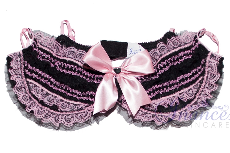 Inance Palm Beach Underwire Bra - Black/Light Pink