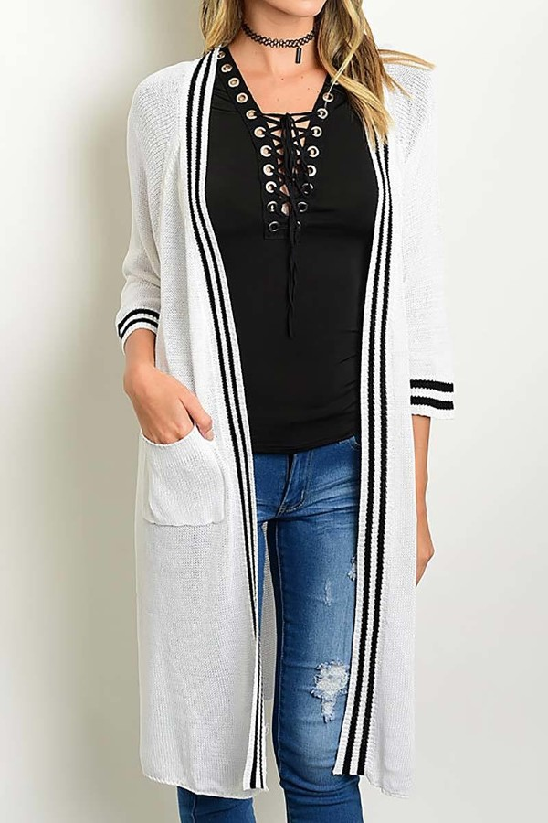 Smazy by Inance  Long Knit Cardigan with Pockets