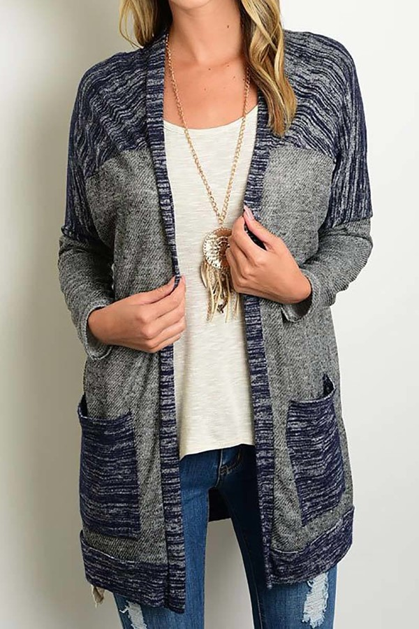 Smazy by Inance  Loose Fit Kimono Cardigan with Pockets