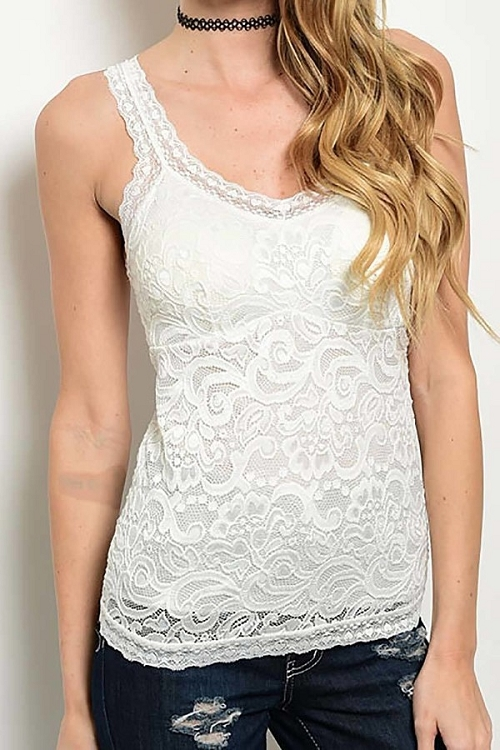 Smazy by Inance Lace Strap Top - 2 Color Choices