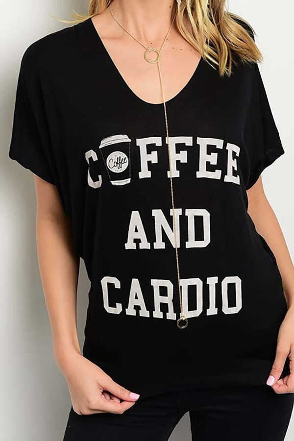 Smazy by Inance Coffee and Cardio T-Shirt Top
