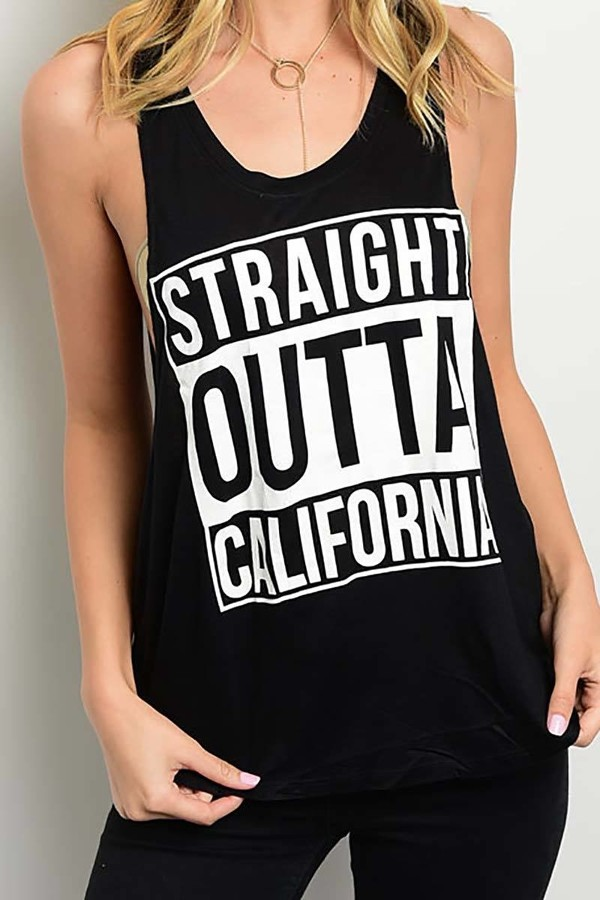 Smazy by Inance Straight Outta California T-Shirt Top