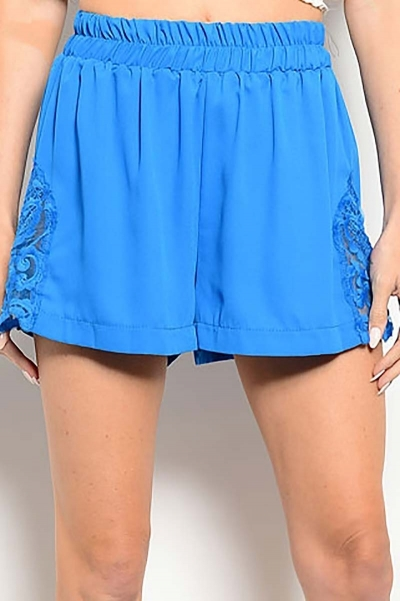 Smazy by Inance Lace Trim Elastic Waist Shorts - 3 Color Choices