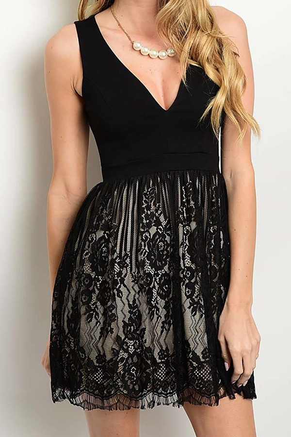 Smazy by Inance BabyDoll Lace Lined Dress