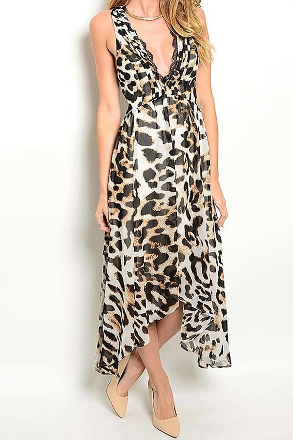 Smazy by Inance Leopard Print Midi Dress