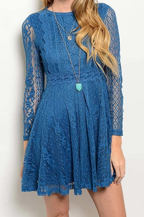 Smazy by Inance Full Lace Lined Dress