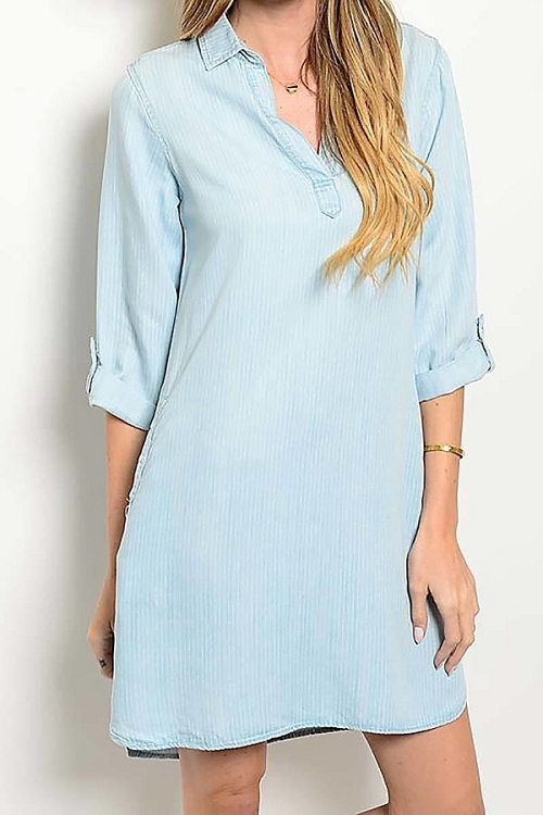 Smazy by Inance Loose Fit Denim Dress