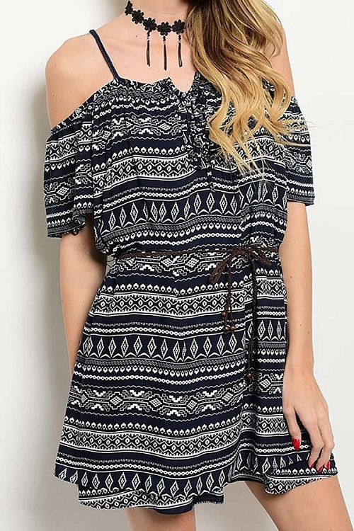 Smazy by Inance Tribal Open Shoulder Romper