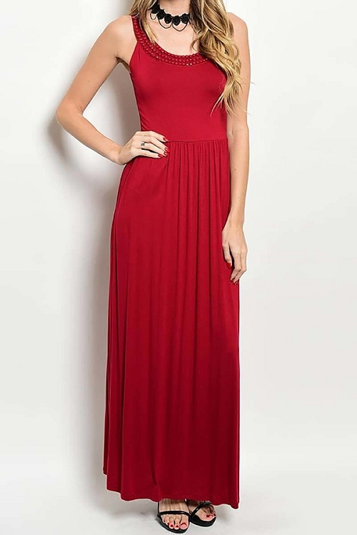 Smazy by Inance Black or Red Maxi Dress - 2 Color Choices