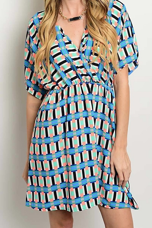 Smazy by Inance Loose Fit Multi Print Dress