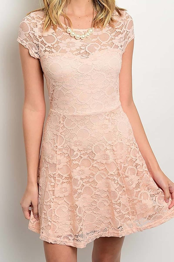 Smazy by Inance Lined Lace Flair Dress