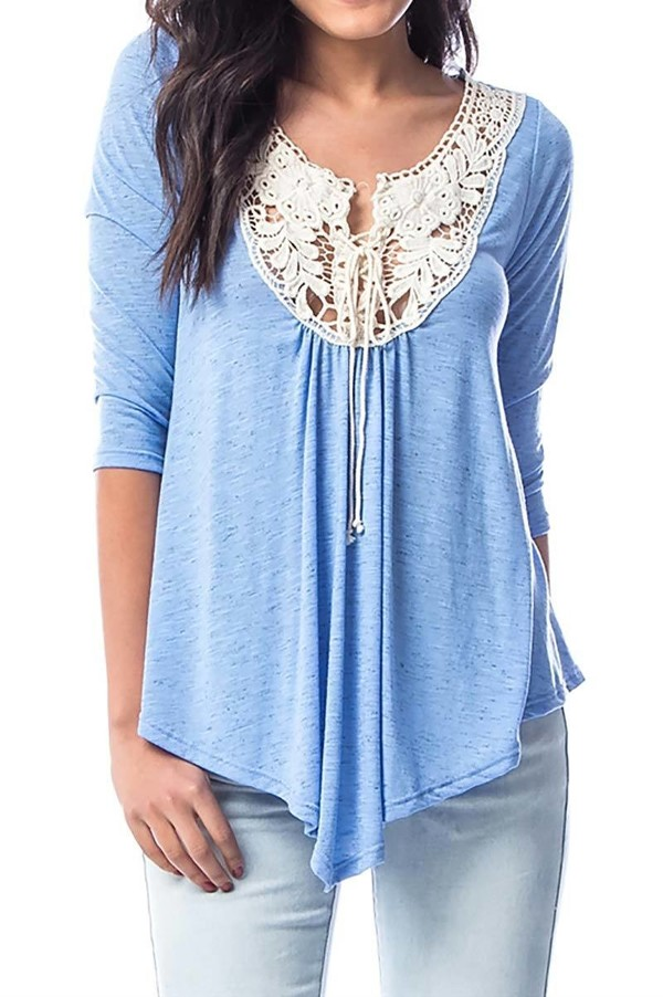 Smazy by Inance Lace Up Crochet Top - 2 Color Choices