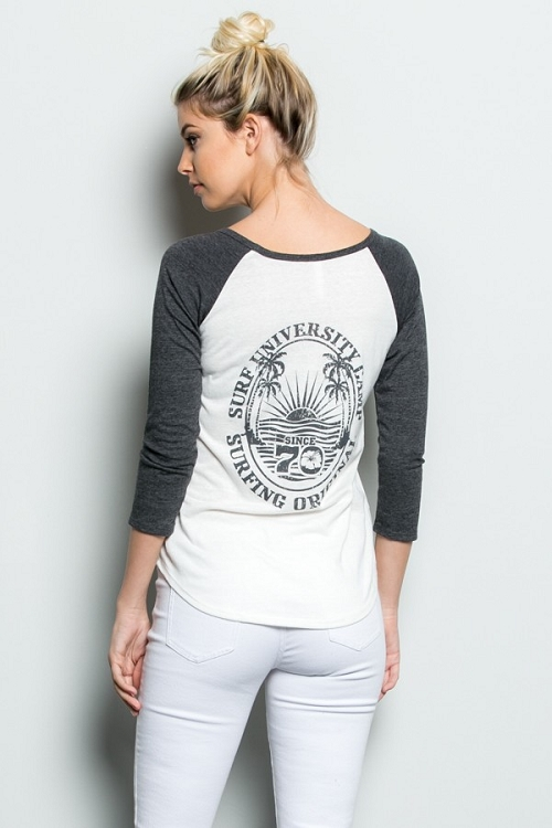 Inance Part Time Surf Chick Top Graphite Sidewalk Gray Made In The Usa