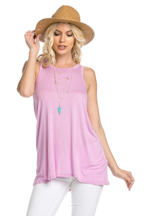 Inance I Believe in Love Sleeveless Top - Be Mine Pink / Sky Blue / Pitch Black / Hour Gray - Made In The USA