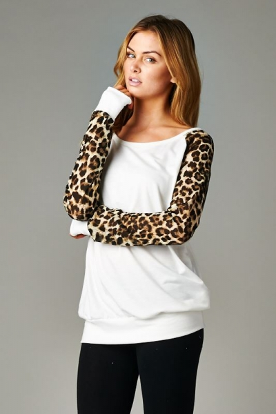 Inance In Your Wildest Dreams Top Snow Leopard / Ruby - Made In The USA