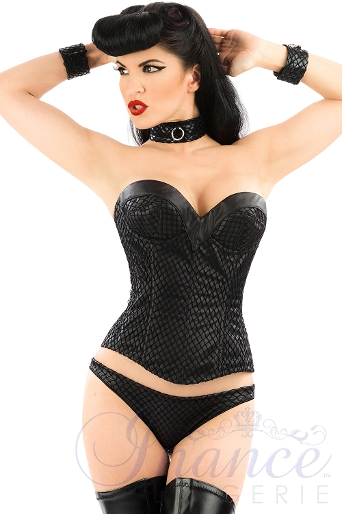 Inance Shades of Black LMS Corset - Black Matte