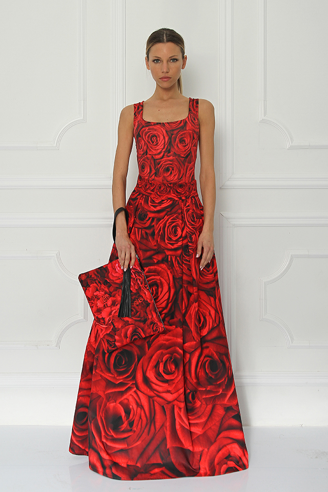 Disney + Sugarbird Designs Exclusive for Inance Beauty and the Beast Red Roses Maxi Skirt
