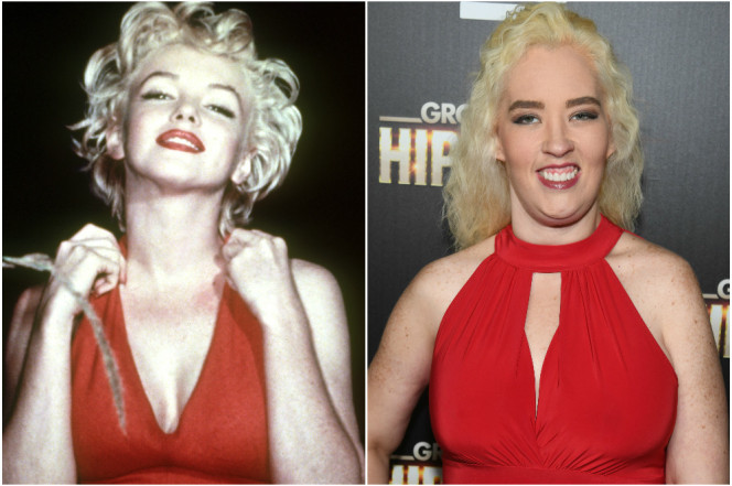 Mama June Resembles Marilyn Monroe in Red Dress by Inance