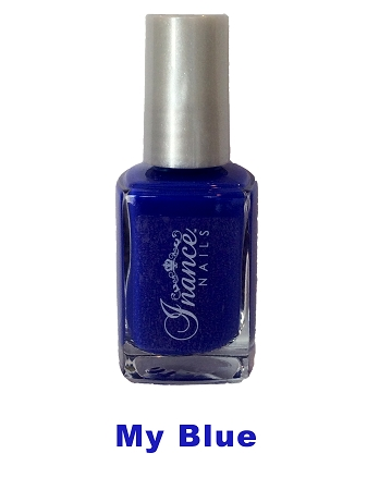 Inance Skincare Dynamic Chip Resistant Long Lasting Nail Polish, 5 Free of Chemicals, My Blue