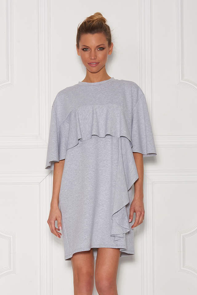 Sugarbird Design for Inance Ruffled Loose Fit Tunic Dress