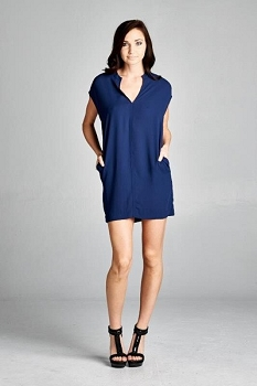 Inance Casual Yet Sexy Pocket Dress