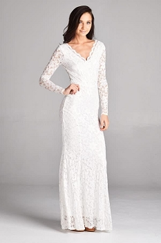 Inance Long Lace Gown - 2 Color Choices