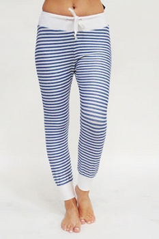 Inance French Terry Drawstring Striped Pants - Made IN Los Angeles
