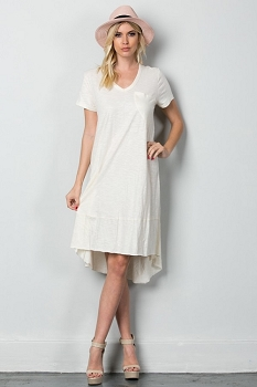 Inance Simply Gorgeous T-shirt Dress - Easygoing White - Made In The USA
