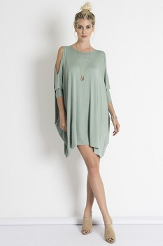 Inance Your Face Is All I See Mini Dress - Spring Green or Jet Black - Made In The USA