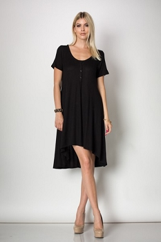 Inance Tell Me a Bedtime Story Dress - Classic Black - Made In The USA