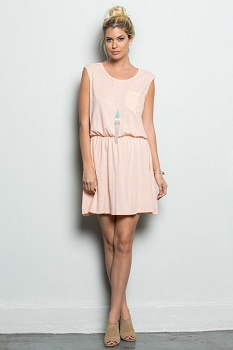 Inance Modern Day Angel Mini Dress - Softest Blush - Made In The USA