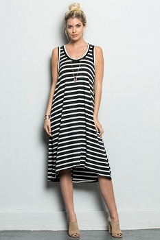 Inance On Sundays We Brunch Striped Dress - Made In The USA
