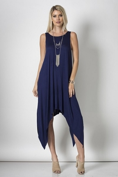 Raw and Ready Tunic Dress - Midnight Blue - Made In The USA-