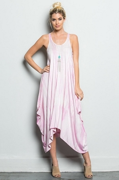 Inance Festival Lover Draped Dress - Palest Pink or Peach Dream - Made In The USA