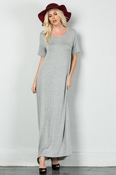 Inance Slip It Off Maxi Dress - Urban Grey - Made In The USA