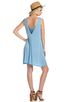 Inance Look Back In Longing Mini Dress - Perfect Sky Blue -  Made In The USA