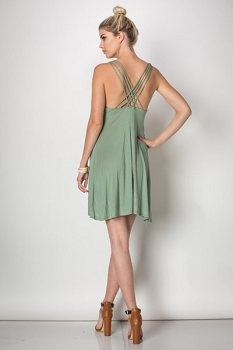 Inance All About That Back Mini Dress,New,Made In USA