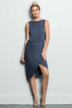 Inance Name's On the List Dress - Night Owl Grey - Made In The USA