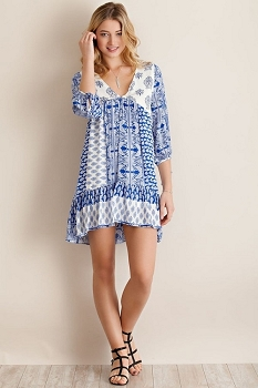 Smazy by Inance Print Casual Dress