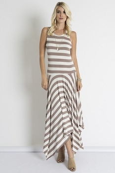 Inance Begging For a Selfie Maxi Dress - Pine, Mocha and Noir - Made In the USA