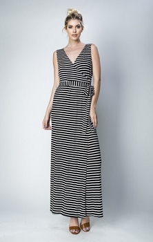 Inance She Summers in Paris Maxi Dress - Made In The USA